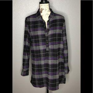 Jachs Girlfriend Plaid  Pop Over Dress/ Tunic S-S